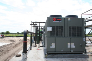 trane chiller installed at Tampa elementary school