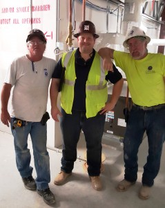 DX Controls Foreman, Jon McGlinchy, PM and Duct Foreman, Frank Wolfe