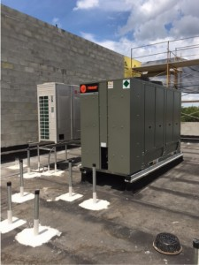 VRF and 20-ton Trane Chiller supplying Temptroll unit